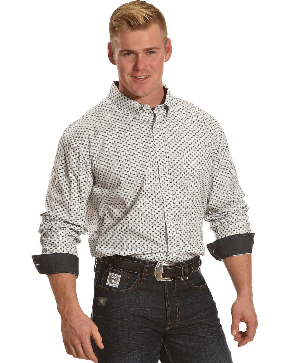 Cody James® Men's Jaggar White Long Sleeve Shirt - Big & Tall, White, hi-res