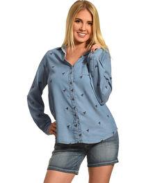 New Direction Sport Women's Horse Print Shirt, , hi-res