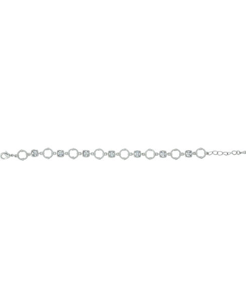 Montana Silversmiths Square Star Lights and Barbed Wire Link Bracelet, Silver, hi-res
