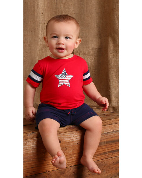 Wrangler Infant Boys' Red Star Short Sleeve Tee, Red, hi-res