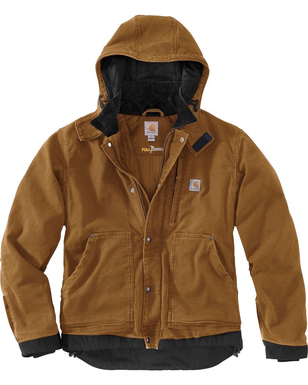 Carhartt Men's Full Swing Caldwell Jacket, Brown, hi-res