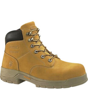 Wolverine Men's Harrison Slip resistant Steel Toe Work Boots, Wheat, hi-res