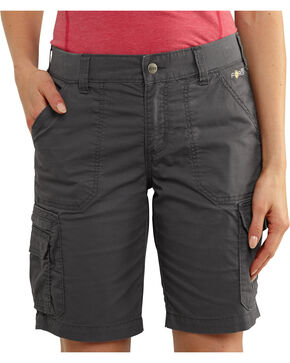 Carhartt Women's Force RuggedFlex Lakota Shorts, Dark Grey, hi-res