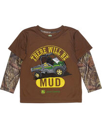 John Deere Toddler Boys' Brown There Will Be Mud T-Shirt , , hi-res
