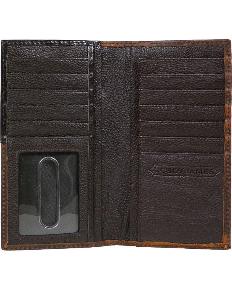 Cody James® Cowhide Rodeo Wallet/Checkbook Cover, Brown, hi-res