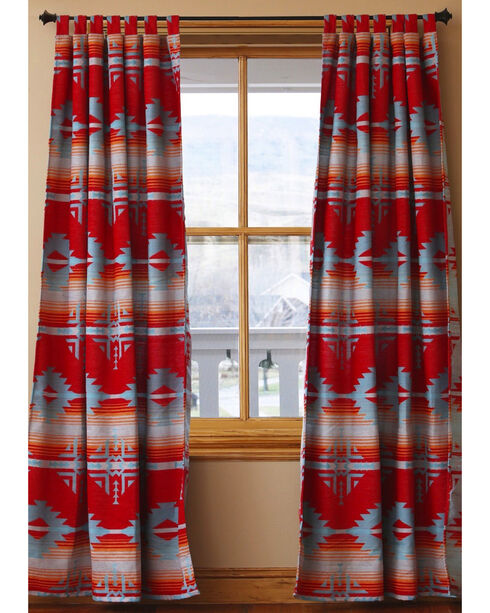 Carstens Red Branch Drapes, Red, hi-res
