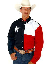 Roper Texas Flag Shirt, , hi-res