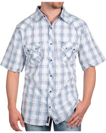 Moonshine Spirit Men's Festival Plaid Short Sleeve Shirt, , hi-res