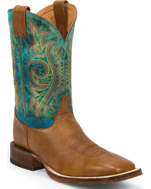 Justin Bent Rail Men's Western Boots, Tan, hi-res