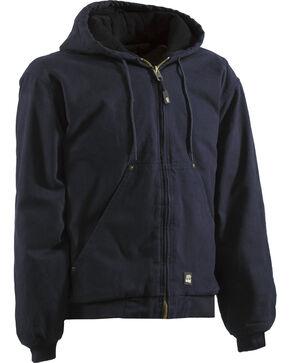 Berne Men's Original Washed Hooded Jacket, Midnight, hi-res