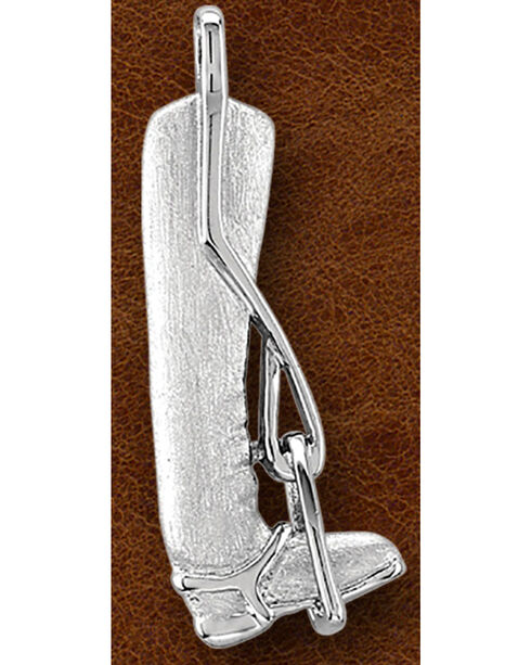 Kelly Herd Sterling Silver Riding Boots Necklace , Silver, hi-res