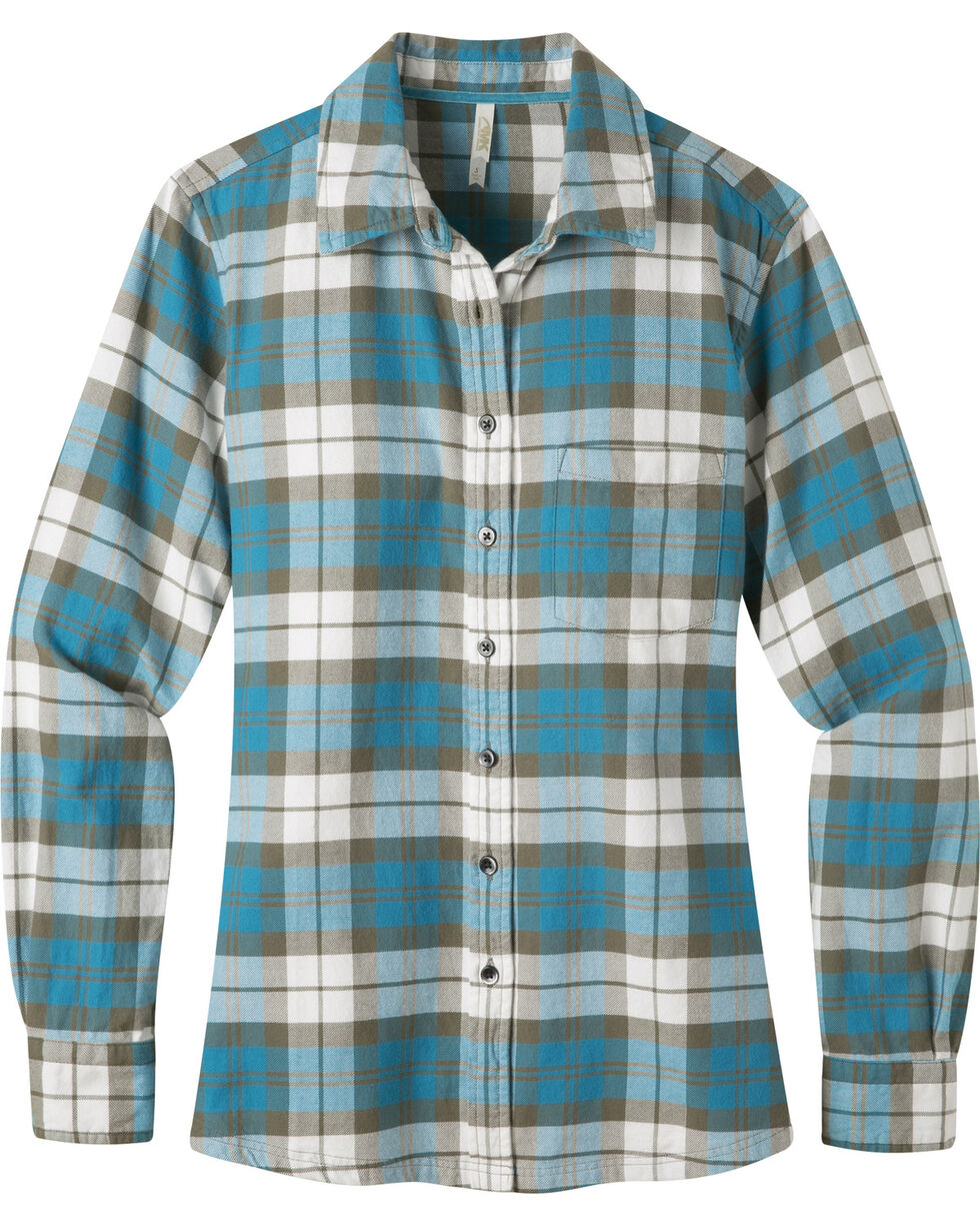 Mountain Khakis Women's Aspen Flannel Shirt, Blue, hi-res