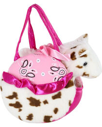 Fancy Pals Speckled Pony and Pink Carrier, , hi-res