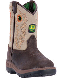 John Deere Toddler Boys' Classic Pull-On Western Boots - Round Toe , , hi-res