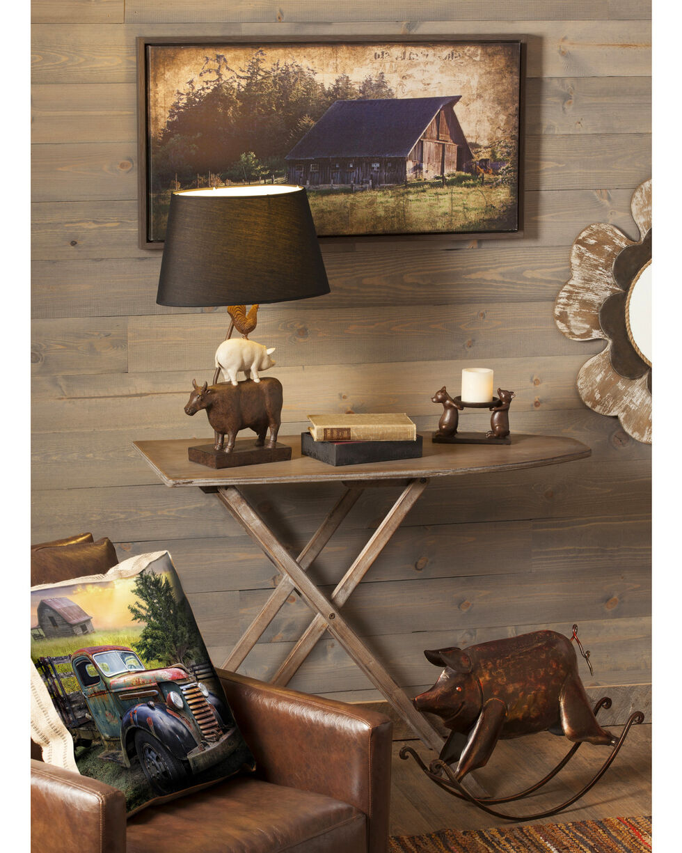 Evergreen Cape Craftsmen Widby's Barn Indoor Framed Wall Canvas , Brown, hi-res