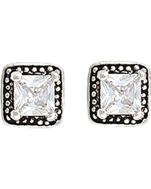 Montana Silversmiths Star Lights Western Princess Earrings, Antique Silver, hi-res
