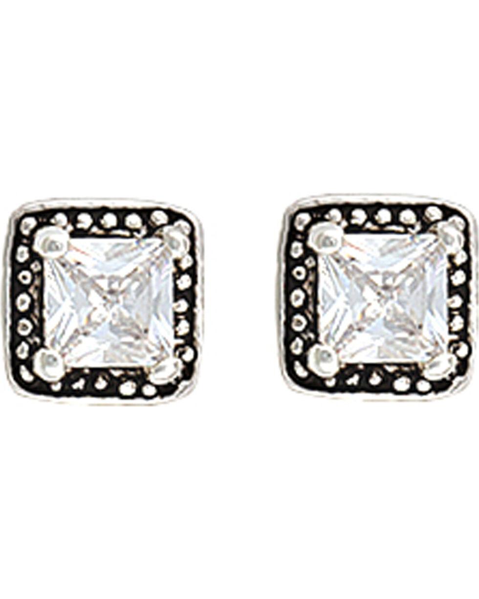 Montana Silversmiths Star Lights Western Princess Earrings, Antique Silver, hi-res