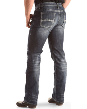 Rock & Roll Cowboy Men's Revolver Jeans - Boot Cut, Blue, hi-res