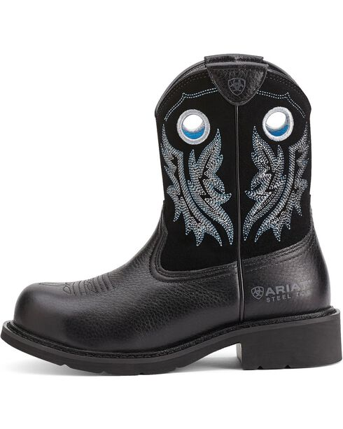 Ariat Women's Fatbaby Cowgirl Steel Toe Western Boots, Black, hi-res