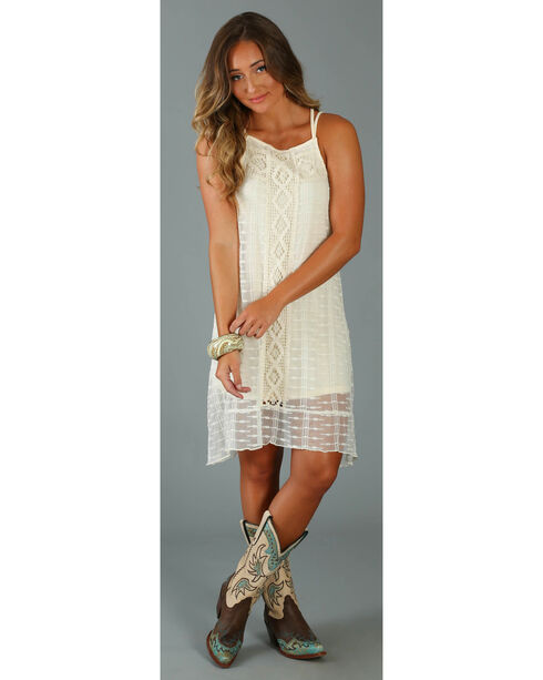 Wrangler Women's Crisscross Strappy Dress, Cream, hi-res