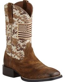 Ariat Men's Camo Patriot Western Boots, , hi-res