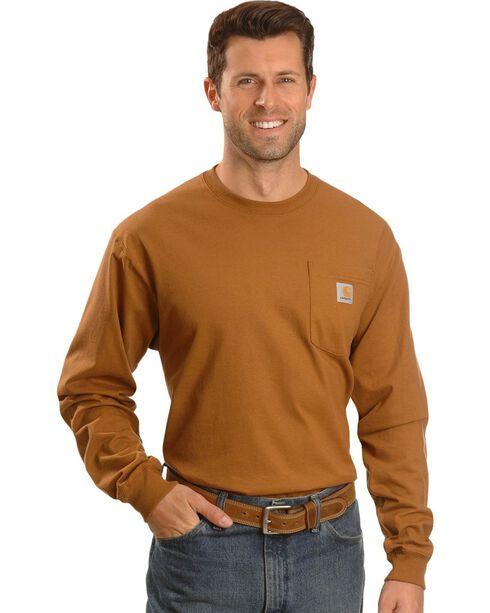 Carhartt Pocket Work Tee, Brown, hi-res