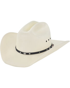 Justin Men's 50X Auger Straw Cowboy Hat, Natural, hi-res
