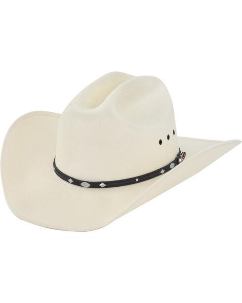Justin Men's 50X Auger Straw Cowboy Hat, Natural, hi-res