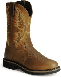 Justin Men's Soft Toe Work Boots, , hi-res