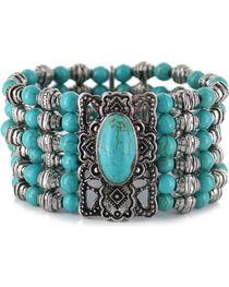 Shyanne® Women's Beaded Turquoise Bracelet, , hi-res