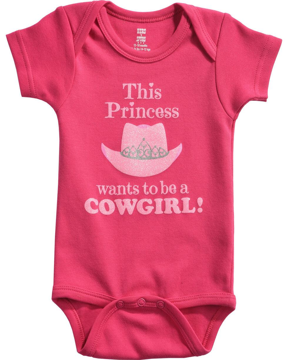 """Hers 'N Spurs Infant's """"Princess Cowgirl"""" Onesie, Pink, hi-res"""