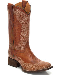 Corral Youth Girls' Distressed Leather Cowgirl Boots - Square Toe , , hi-res