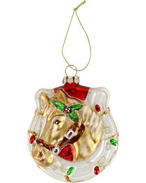 BB Ranch Horse & Horse Shoe Ornament, , hi-res