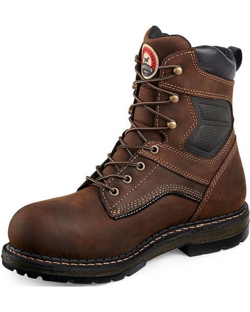 "Red Wing Irish Setter Ramsey 8"" Work Boots - Aluminum Toe , Brown, hi-res"