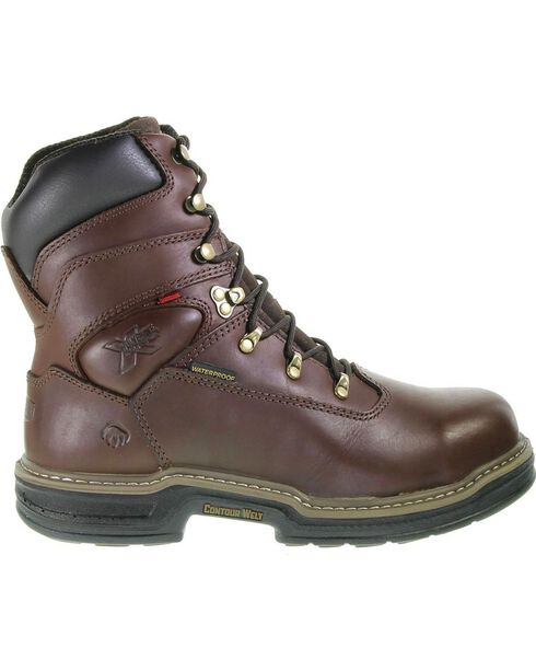 Wolverine Men's Buccaneer MultiShox® Steel Toe Waterproof Work Boots, Dark Brown, hi-res