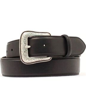 Black Leather Belt, Black, hi-res