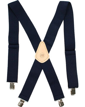 American Worker Men's Navy Suspenders, Navy, hi-res