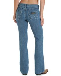 Wrangler Women's Blue Premium Patch Mae Jeans - Boot Cut , , hi-res