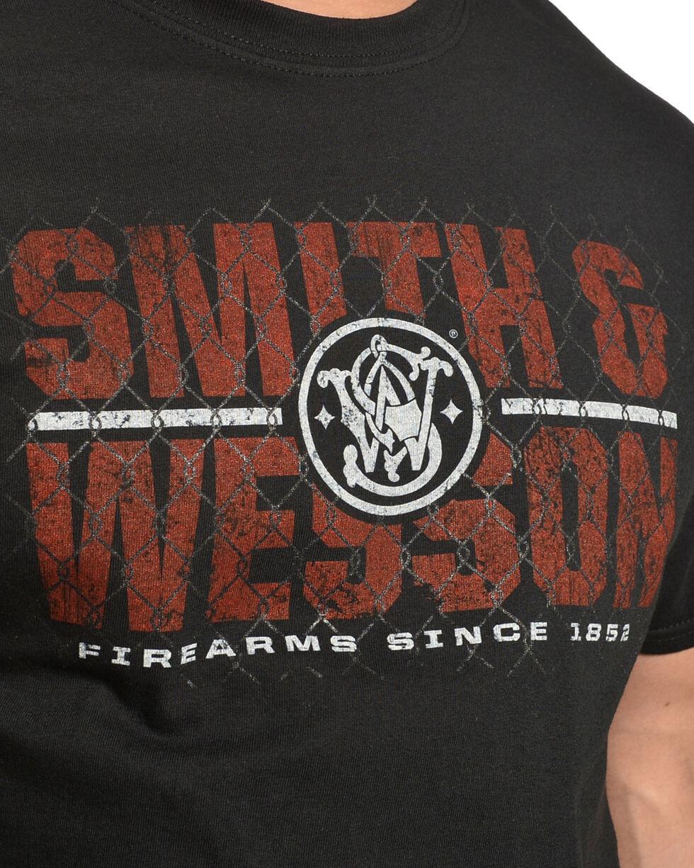 Smith & Wesson Men's Black Cyclone Fence Tee , Black, hi-res