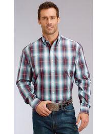 Stetson Men's Purple Plaid Long Sleeve Button Down Shirt - Big & Tall, , hi-res