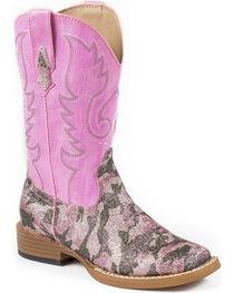 Roper Toddler's Pretty Camo Print Western Boots, , hi-res