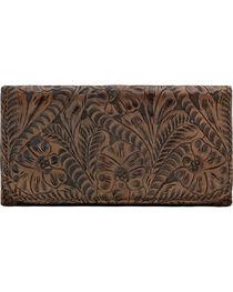 American West Women's Annie's Secret Tri-Fold Wallet, Brown, hi-res