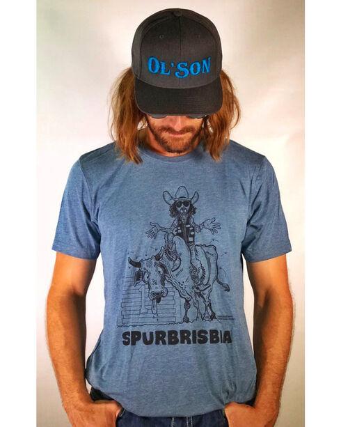 Dale Brisby Men's Spurbrisbia Tee , Blue, hi-res
