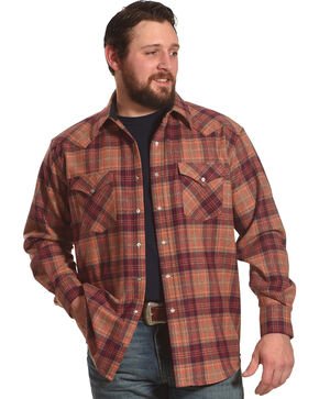 Pendleton Men's Sunset Canyon Plaid Shirt , Orange, hi-res