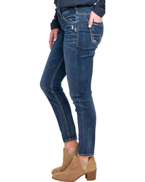 Silver Women's Avery Ankle Jeans - Skinny Leg, Indigo, hi-res
