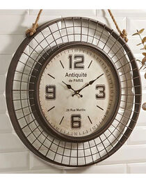 Giftcraft Antique Design Checkered Wall Clock , Brown, hi-res