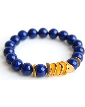 Everlasting Joy Women's Navy Riverstone Chip Bracelet, Navy, hi-res