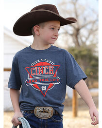 Cinch Boys' Lead This Life Short Sleeve Tee, , hi-res