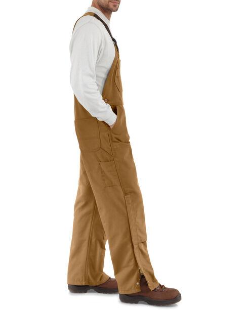 Carhartt Men's Flame Resistant Duck Overalls, Carhartt Brown, hi-res