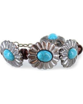 Shyanne® Women's Turquoise Concho Bracelet, Brown, hi-res